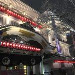 歌舞伎座も雪景色(東京の大雪)
